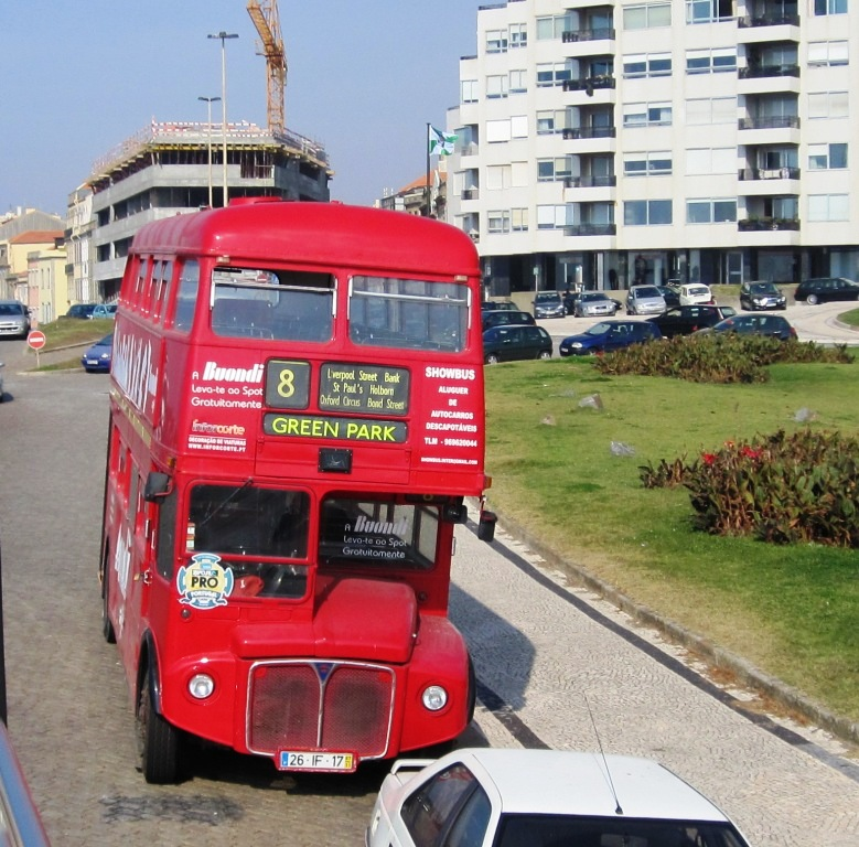 The last word - Routemaster in Oporto, Portugal.  I wonder what the fare is from Green Park to Oporto?